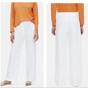Eileen Fisher White Linen Pants size Medium